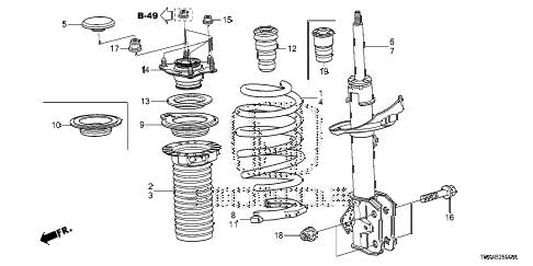 Honda online store : 2014 crv front shock absorber parts