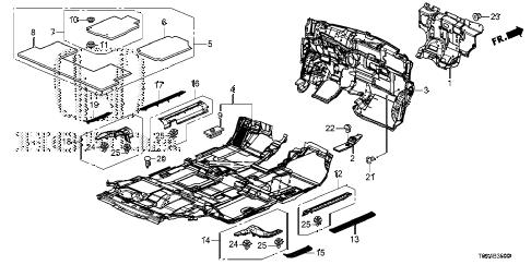 Honda online store : 2013 crv floor mat (1) parts