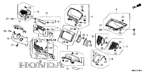 Honda online store : 2015 crv instrument panel garnish