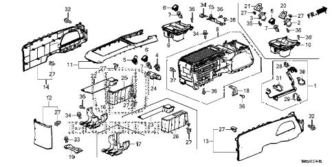 Honda online store : 2014 crv console (-'14) parts