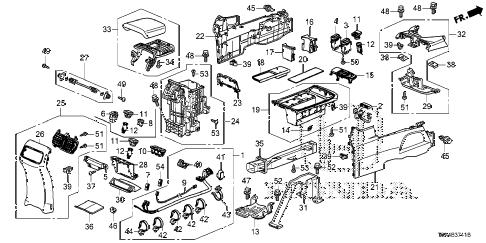 Honda online store : 2016 crv console ('15-) parts