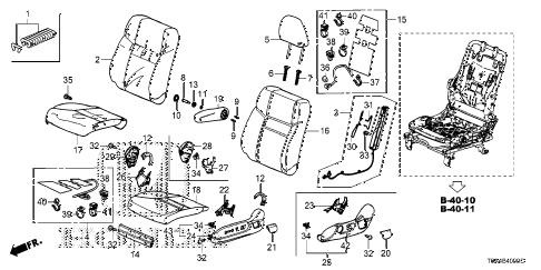 Honda online store : 2016 crv front seat (l.) parts