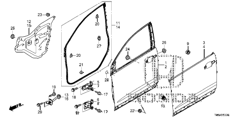 Honda online store : 2014 crv front door panels parts