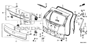 Honda online store : 2016 crv tailgate parts