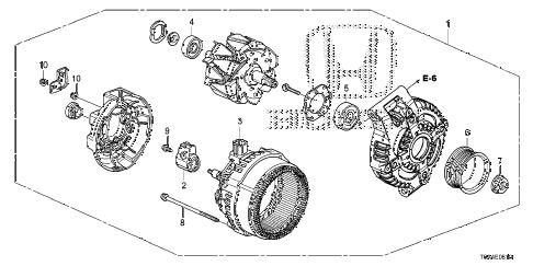 Honda online store : 2013 crv alternator (denso) (-'14) parts
