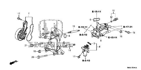 Honda online store : 2015 crv water pump ('15-) parts