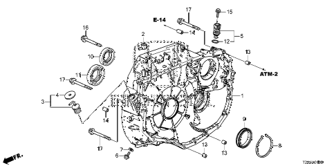 Honda online store : 2013 accord at torque converter case