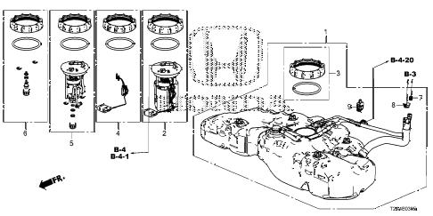 Honda online store : 2014 accord fuel tank (ka/kc/kl) parts