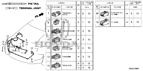 Honda online store : 2014 accord electrical connectors (rr