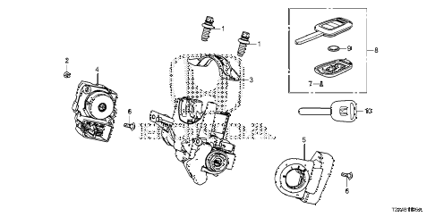 Honda online store : 2013 accord key cylinder components parts