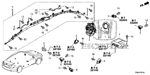 Honda online store : 2013 accord srs unit parts