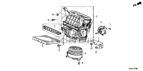 Honda online store : 2014 accord heater blower parts
