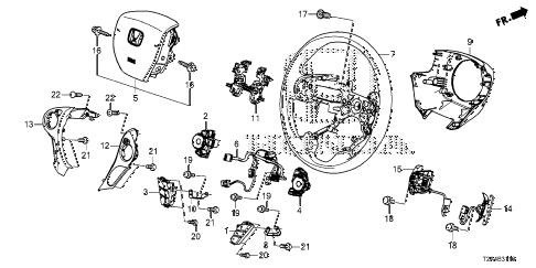 Honda online store : 2015 accord steering wheel (srs) parts