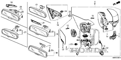 Honda online store : 2013 accord mirror (2) parts