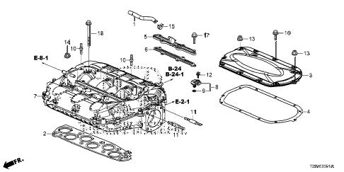 Honda online store : 2013 accord intake manifold (v6) parts