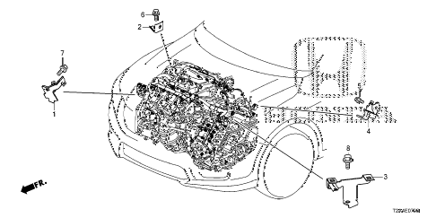 Honda online store : 2013 accord engine wire harness stay