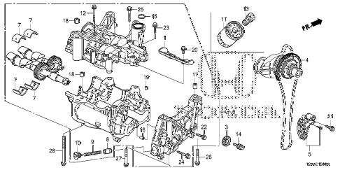 Honda online store : 2013 accord oil pump (l4) parts