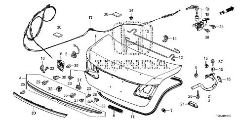 Honda online store : 2017 accord trunk lid parts