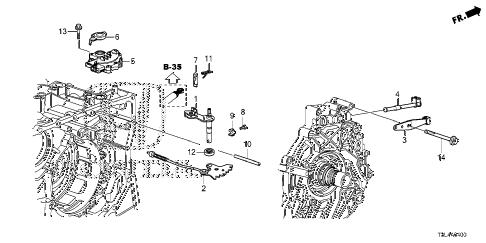 Honda online store : 2013 accord at shift fork (cvt) parts