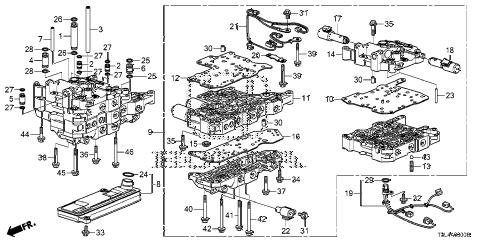 Honda online store : 2013 accord at valve body (cvt) parts