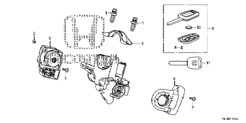 Honda online store : 2015 accord key cylinder components parts