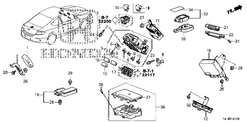 Honda online store : 2015 accord control unit (cabin) (1