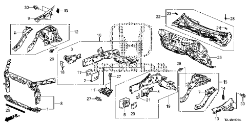 Honda online store : 2015 accord front bulkhead