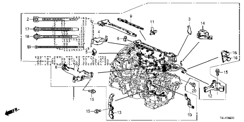 Honda online store : 2015 accord engine wire harness (l4