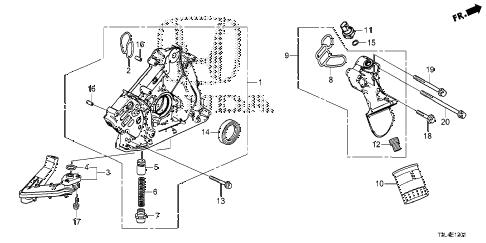 Honda online store : 2013 accord oil pump (v6) parts