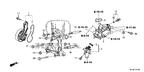 Honda online store : 2013 accord water pump (l4) parts
