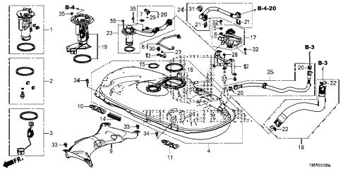 Honda online store : 2014 accord fuel tank parts
