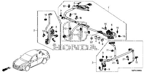 Honda online store : 2014 accord ipu harness parts