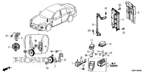 Honda online store : 2014 accord control unit (engine room