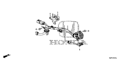 Honda online store : 2014 accord charge inlet cable parts