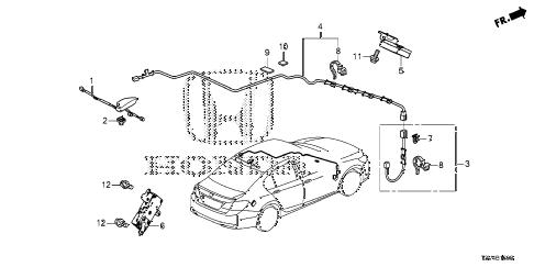 Honda online store : 2014 accord radio antenna parts