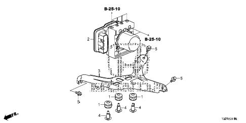 Honda online store : 2014 accord vsa modulator parts