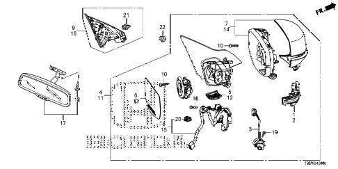 Honda online store : 2014 accord mirror parts