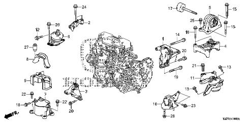 Honda online store : 2014 accord engine mounts parts