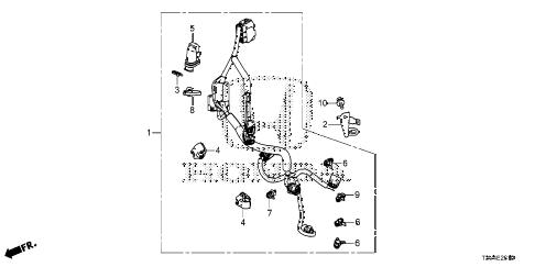 Honda online store : 2014 accord motor sensor wire harness