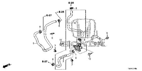 Honda online store : 2014 accord electric water pump (pcu