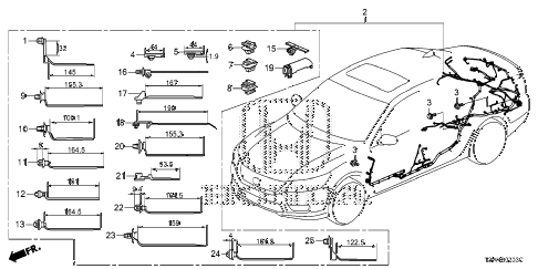 Honda online store : 2014 accord wire harness (4) parts