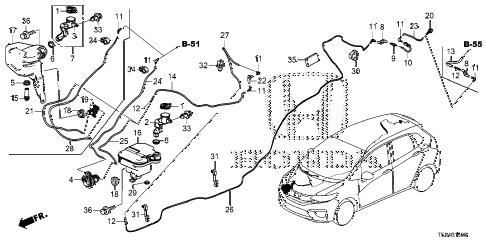 Honda online store : 2015 fit windshield washer (1) parts