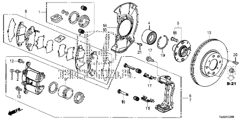 Honda online store : 2015 fit front brake parts