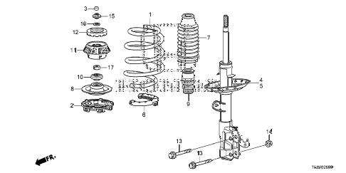 Honda online store : 2015 fit front shock absorber parts