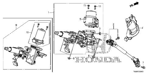 Honda online store : 2015 fit steering column parts