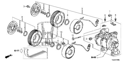 Honda online store : 2015 fit a/c compressor parts