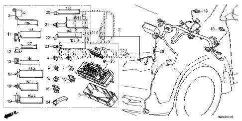 Honda online store : 2017 ridgeline wire harness (2) parts