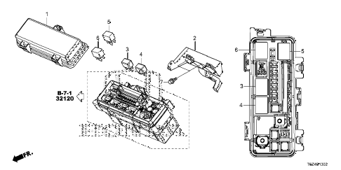 Honda online store : 2017 ridgeline control unit (engine