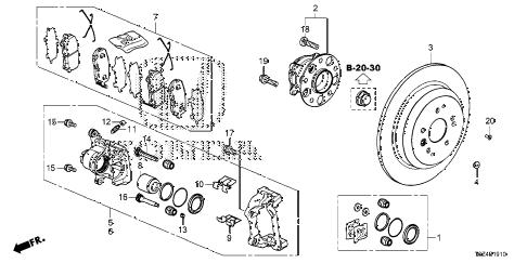 Honda online store : 2017 ridgeline rear brake parts