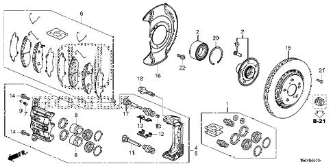 Honda online store : 2017 ridgeline front brake parts
